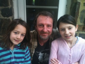 Market Manager Joe Fazik and his lovely daughters