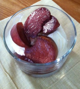 Doughnut peaches with wine 1